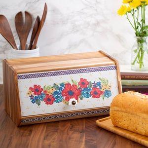 Pioneer Woman Acacia wood Bread Box